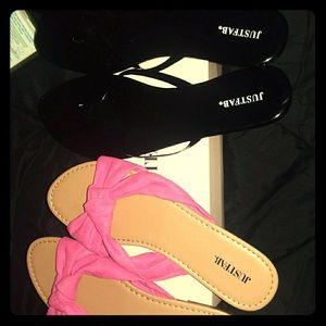 Two brand new flip flops